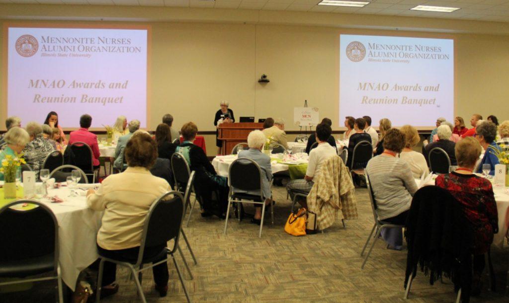 Nursing alumni at an event