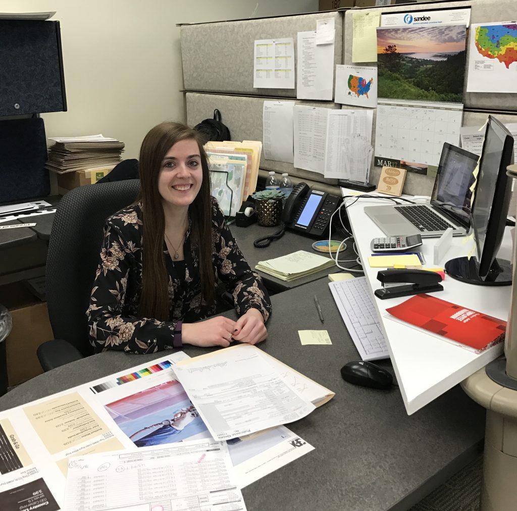 JoAnna at her desk.