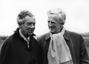 Benjamin Britten with Peter Pears in 1975. (Photo by Victor Parker. The Britten–Pears Foundation. Image courtesy of www.britten100.org.)