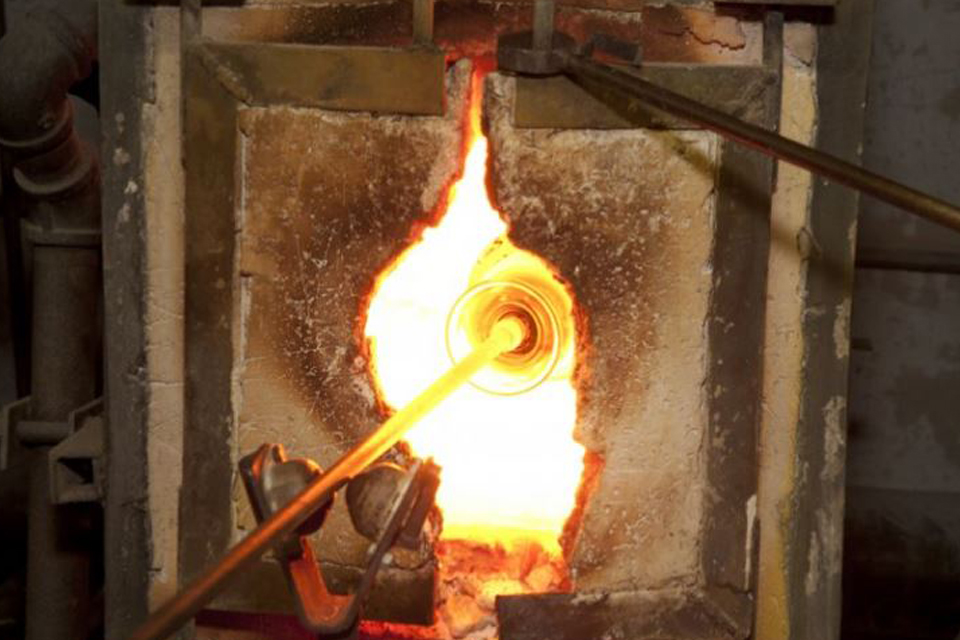 glass in fire