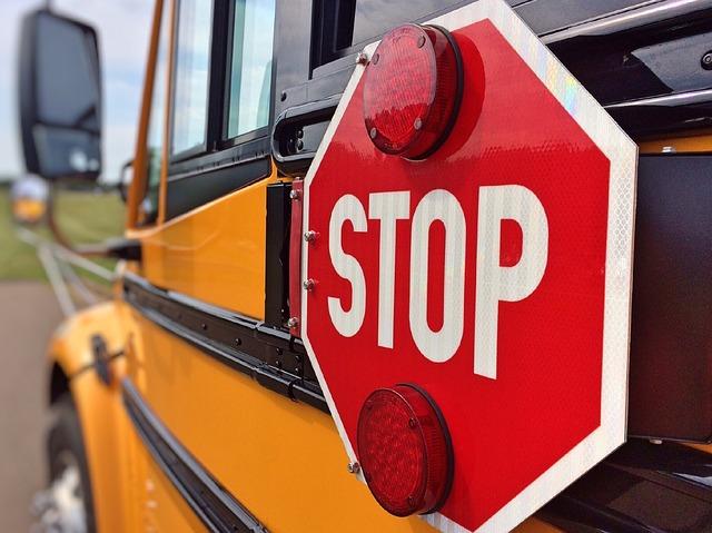 K-12 School bus stop sign