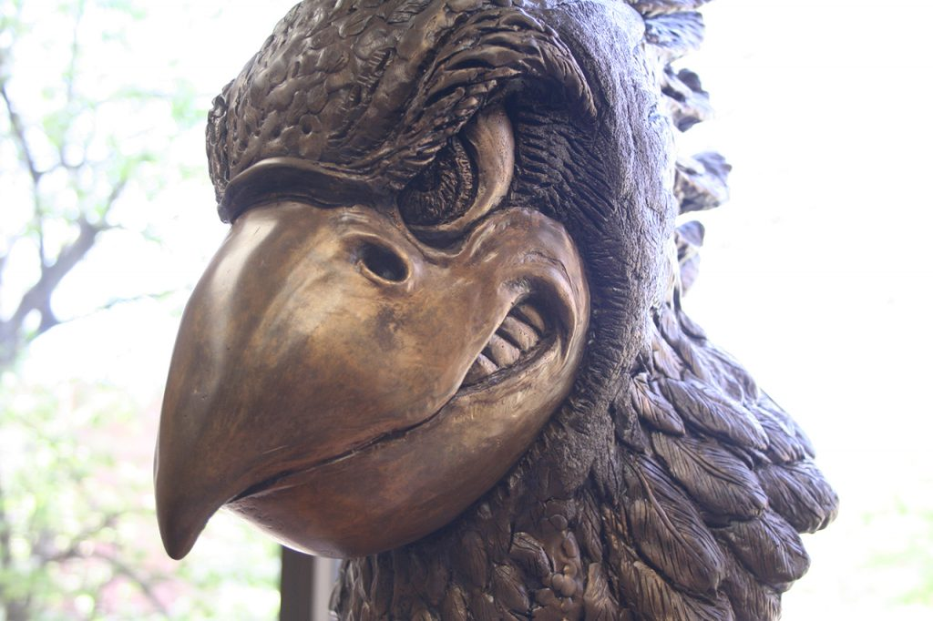 image of a Redbird bust