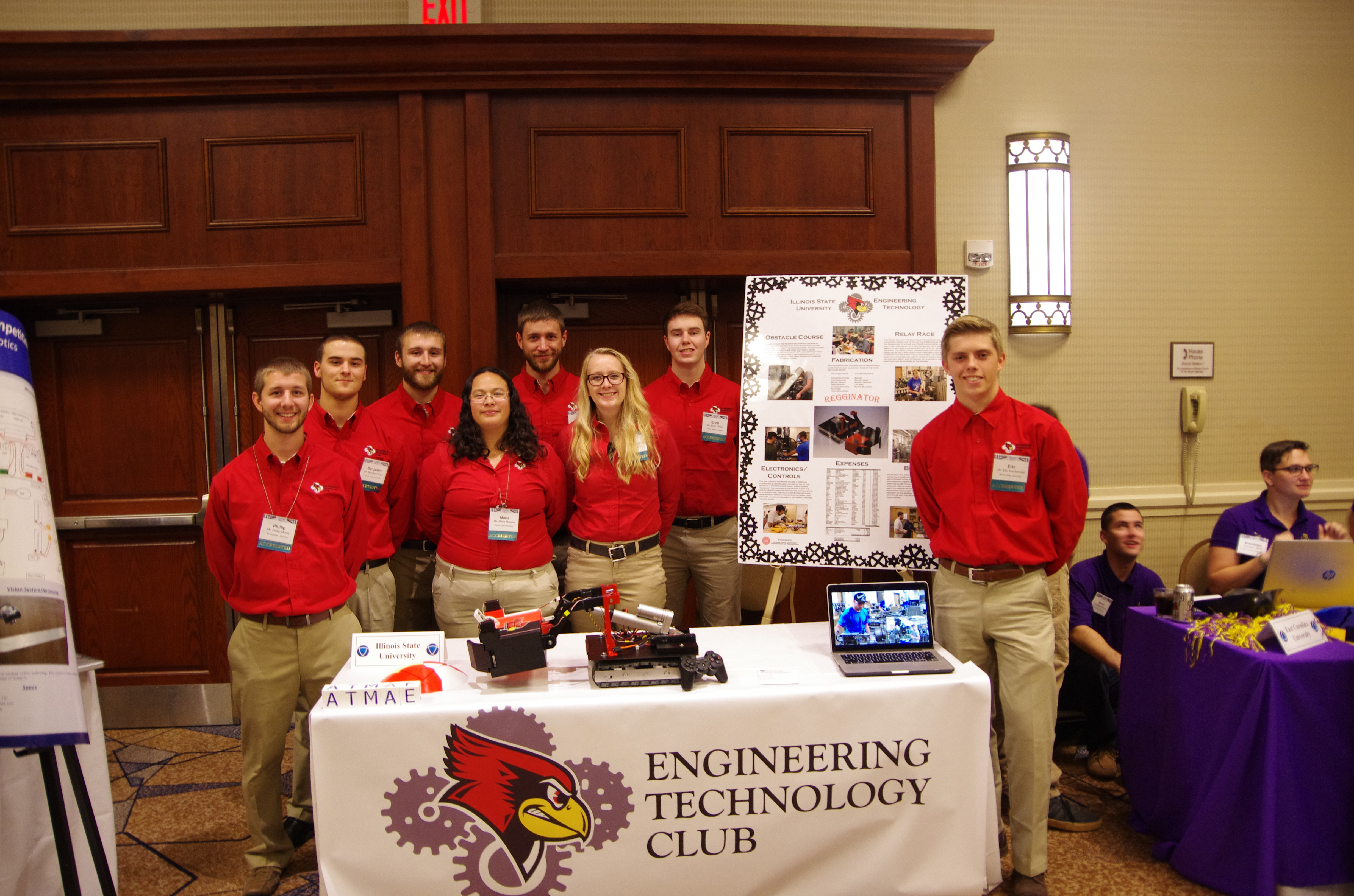ET Club at the 2015 Association of Technology, Management & Applied Engineering (ATMAE) robotics competition.