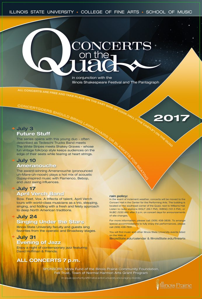 2017 Concerts on the Quad Series.
