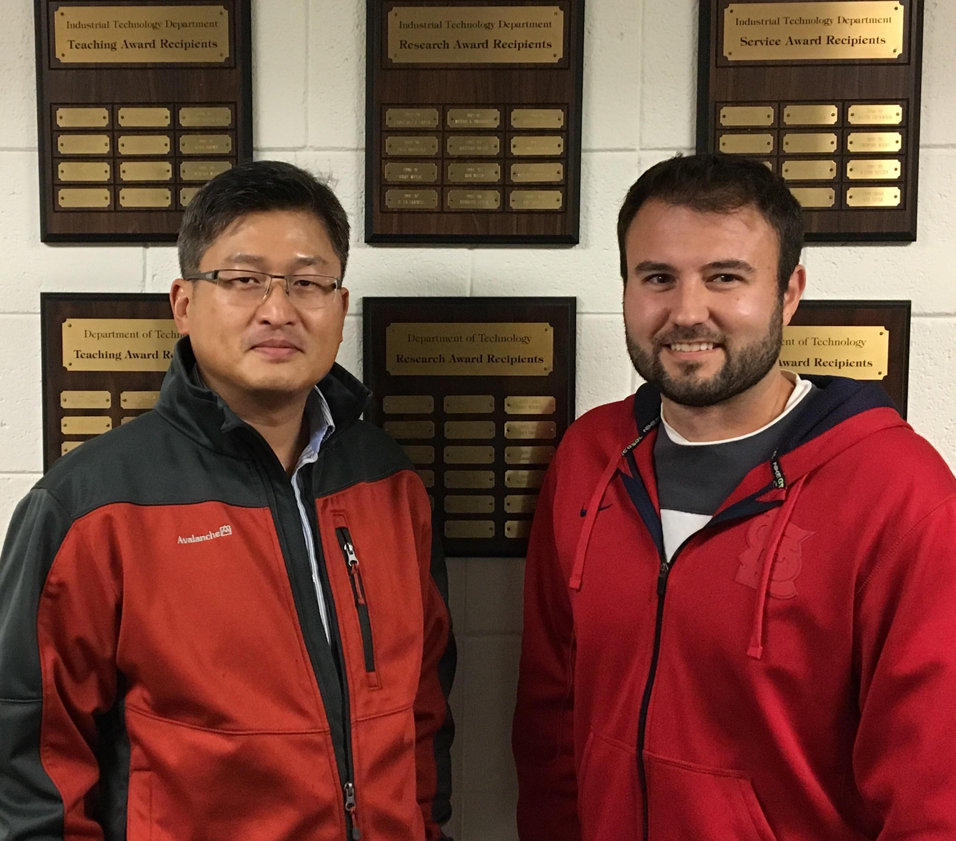 Professor Bo Park and Logan Frederick