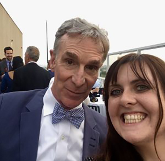 Jaimie Kent with Bill Nye, the Science Guy