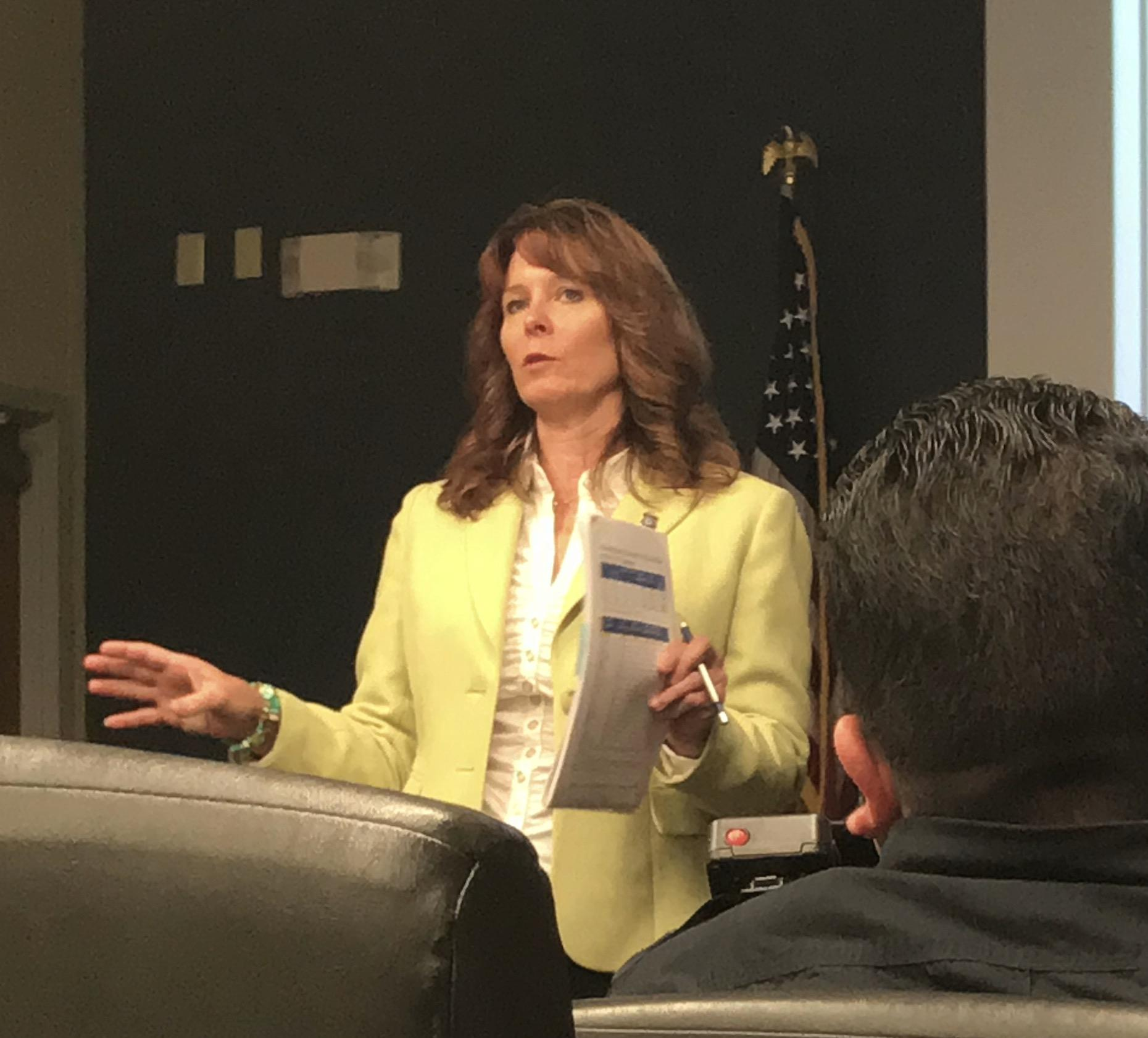 Monica Mapel '87 at work as acting deputy special agent in charge for Homeland Security Investigations San Antonio.