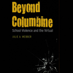 Yellow type on black background cover of book Beyond Columbine