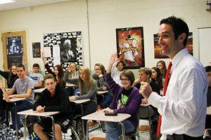 Dan Zehr in the classroom