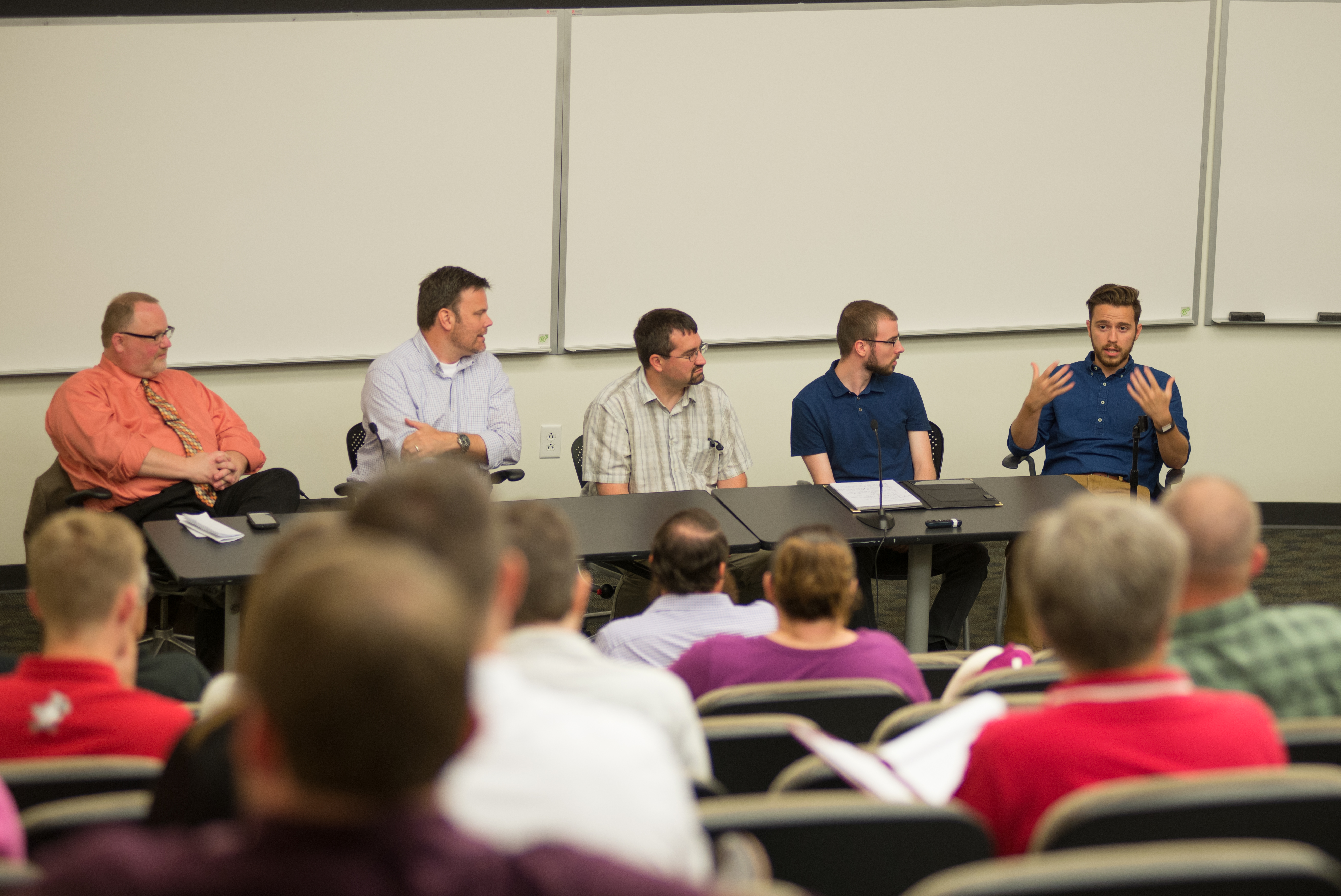 IT security professionals discuss cybersecurity.