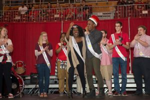 students look surprised after crowning