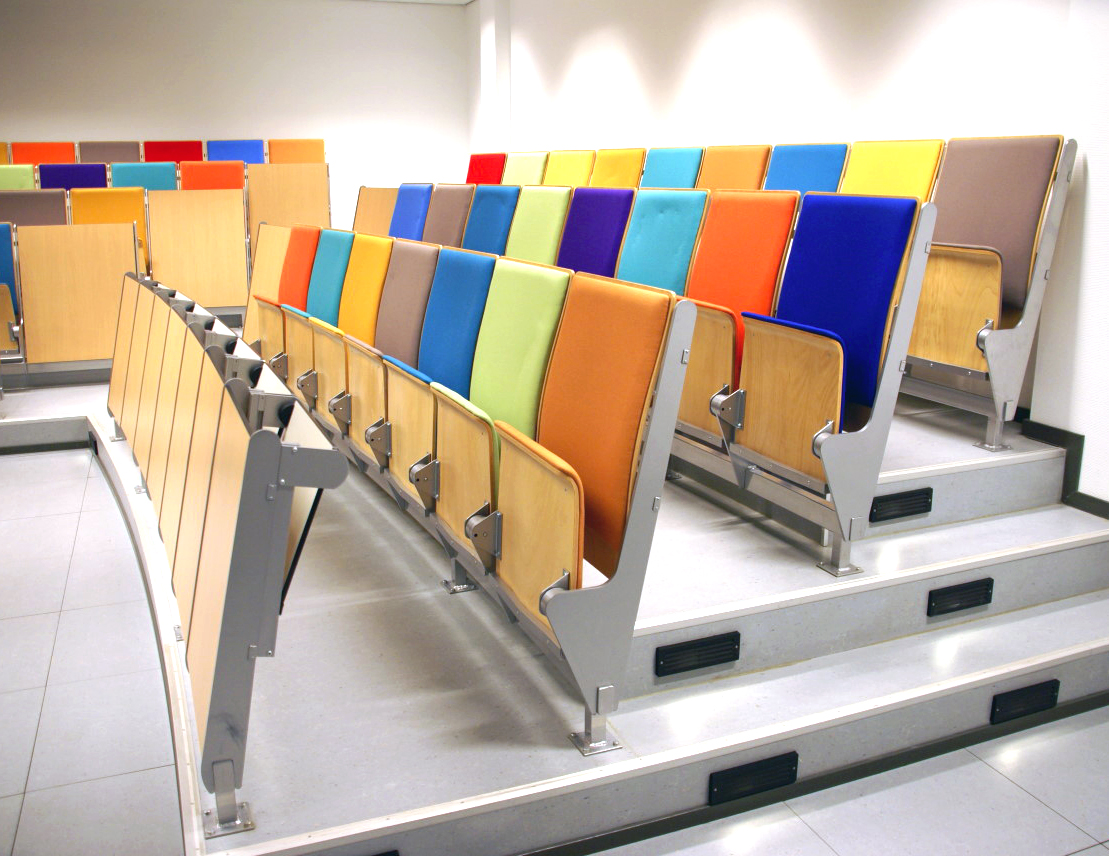 colorful conference room for training