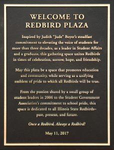 Redbird Plaza plaque