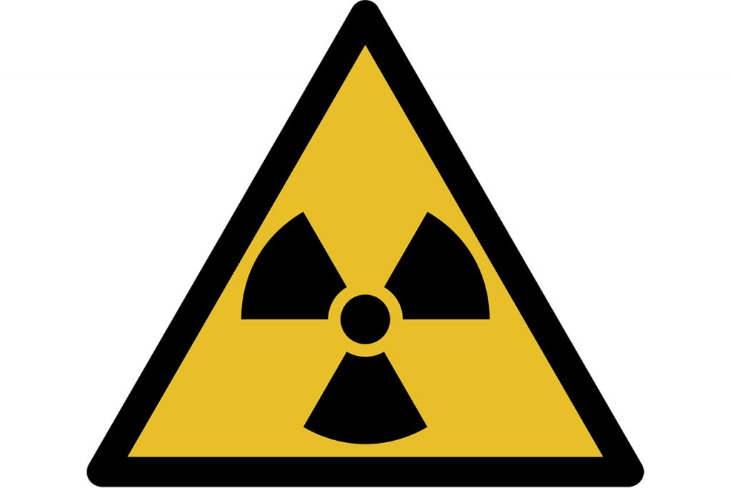 radioactive warning symbol for map