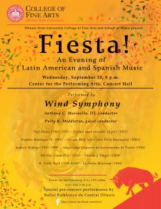 Poster for Wind Ensemble concert, Fiesta