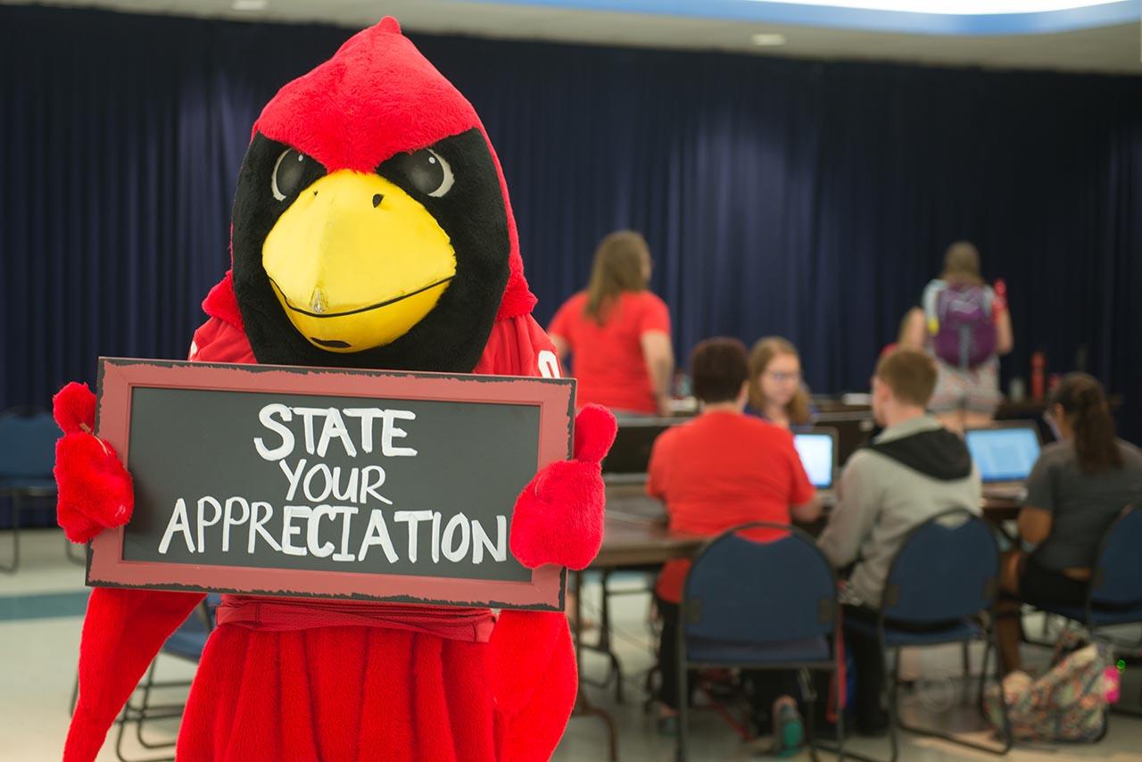 Reggie Redbird #StateYourAppreciation