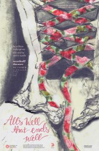 Poster for <i>All's Well That Ends Well</i> listed all performance dates.