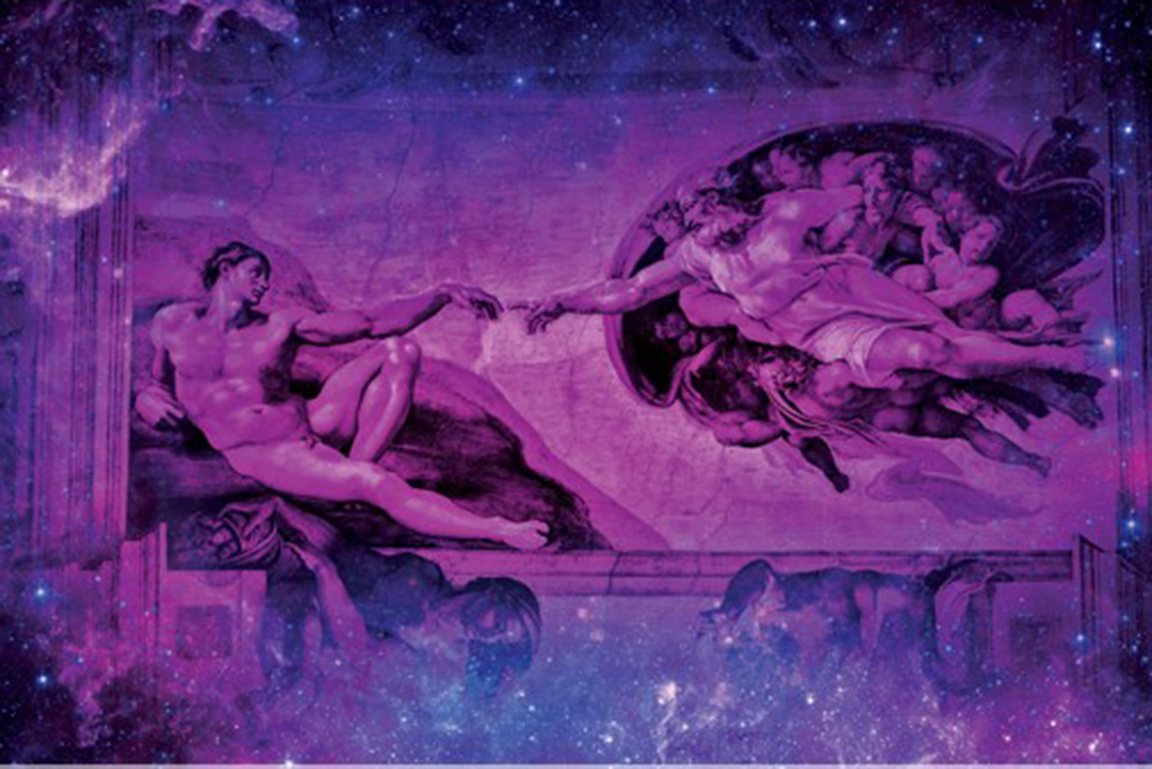 Image depicting the Creation, from concert poster.