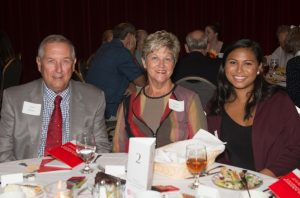Photo of Kurt and Joyce Moser with Alison Alcazar at the MCN Scholarship Banquet