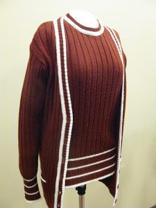 sweater and shell on a mannequin