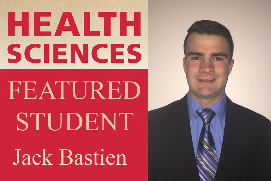 Heatlh Sciences Featured Student Jack Bastien