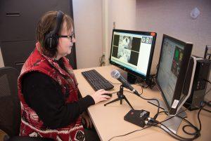 Faculty teaching in Illinois State University's Nursing Simulation Laboratory.