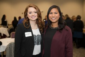 Leadership Academy participants Mikayla Cooksey (left) and Alison Alcazar (right).