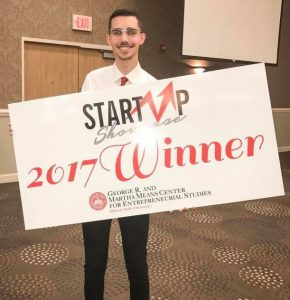 First place was awarded to Andrew Frey's startup First Hand Museum, which provides tools for teachers to enrich their classroom lessons.