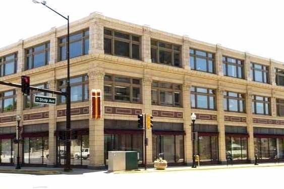 Large rectangular building on a streetcorner