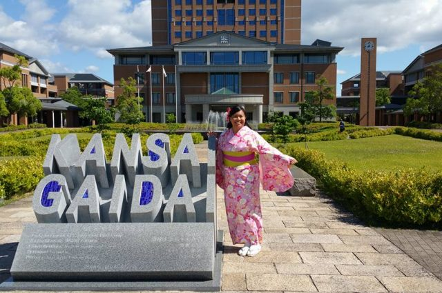 Jasmin Tuazon during her study abroad in Japan