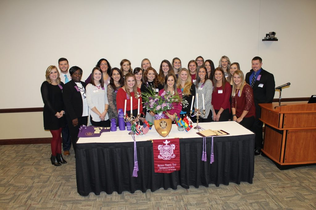 Group photo of Xi Pi Chapter Induction Ceremony