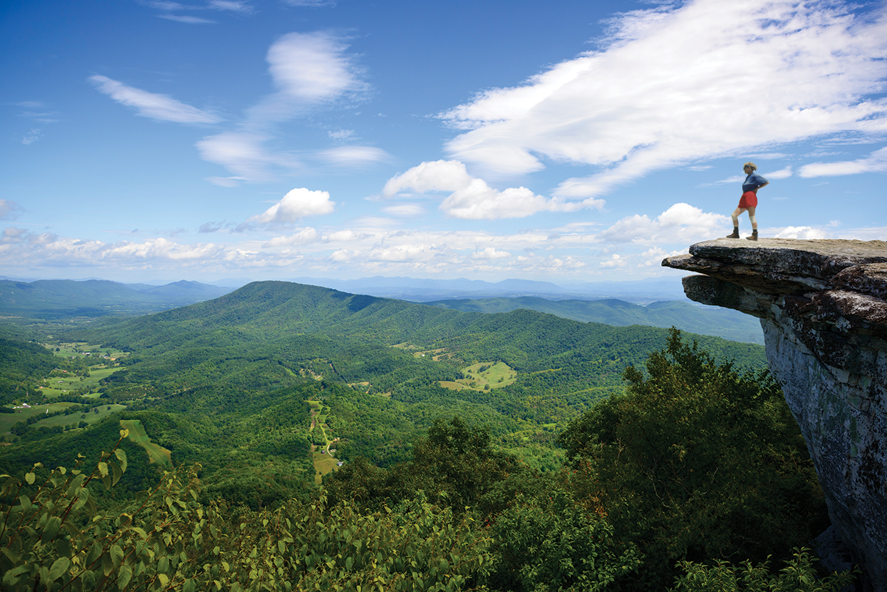 One triumphant moment for Jean Deeds while on the Appalachian Trail was hiking to the top of McAfee Knob in Virginia.