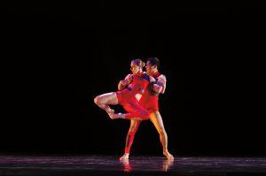 Dance concert two dancers