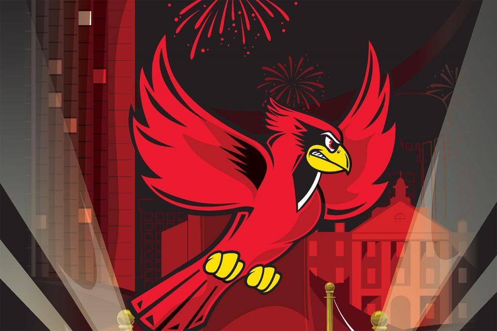Illustration of a Redbird rising