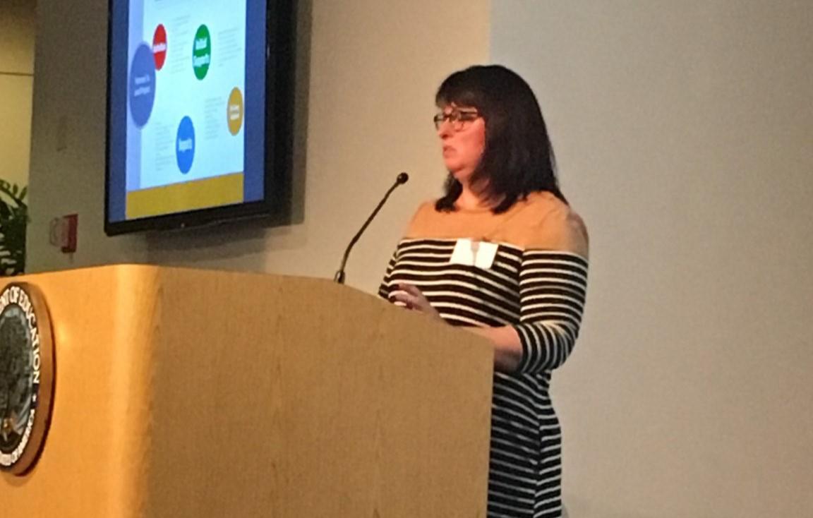 Dr. Alicia Haller presenting at EIR