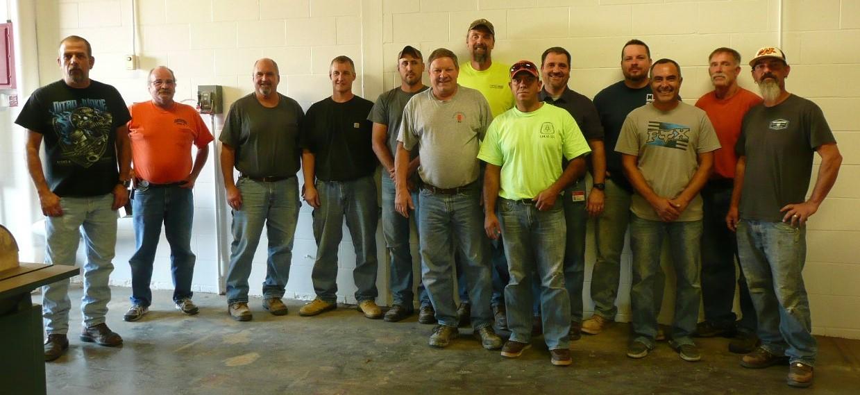 ISU Carpenters Team in the shop.