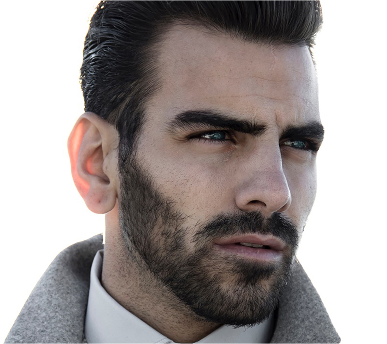 Nyle DiMarco looks away from the camera