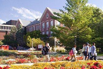 Shot of campus in summer