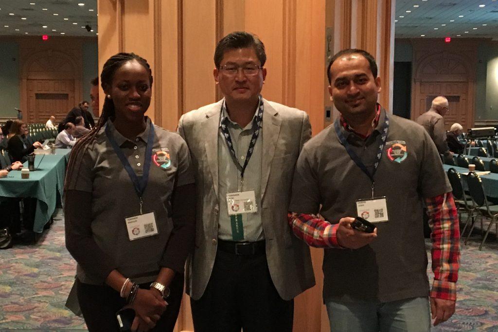 Yewande Marquis, Professor Borinara Park and Hardik Joshi at the IAA Annual Conference
