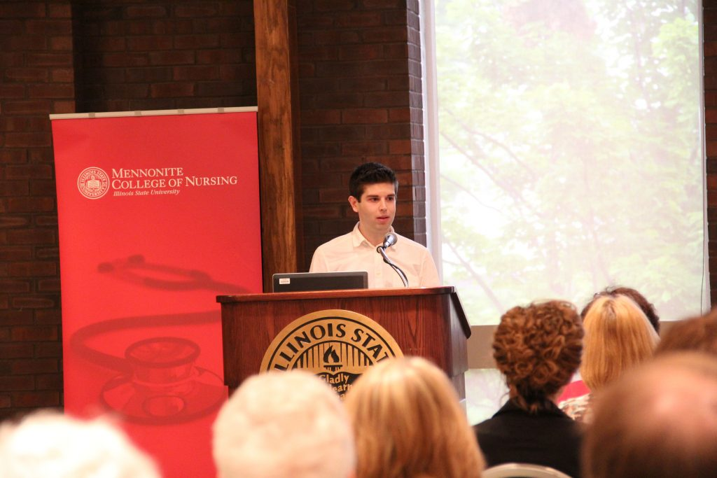 Michael Gnidovec speaks at MCN's Summer Grad Reception, 2013 .