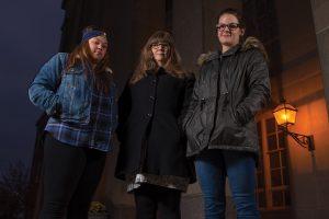 Bria Scott, Professor Cynthia Edmonds-Cady, and Lana Duran