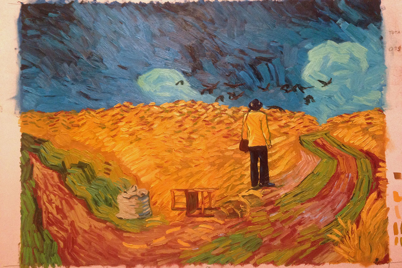 A painted frame from the film Loving Vincent.