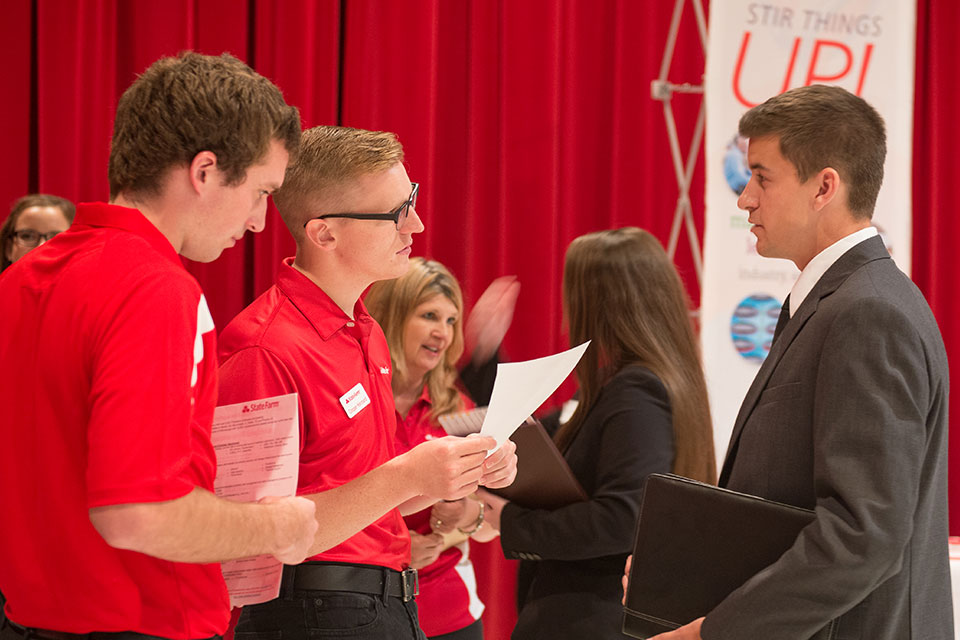 Students make great connections at the Career Center's career fairs