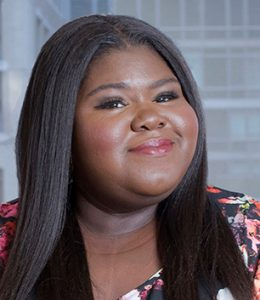 headshot of Actress and author Gabourey Sidibe