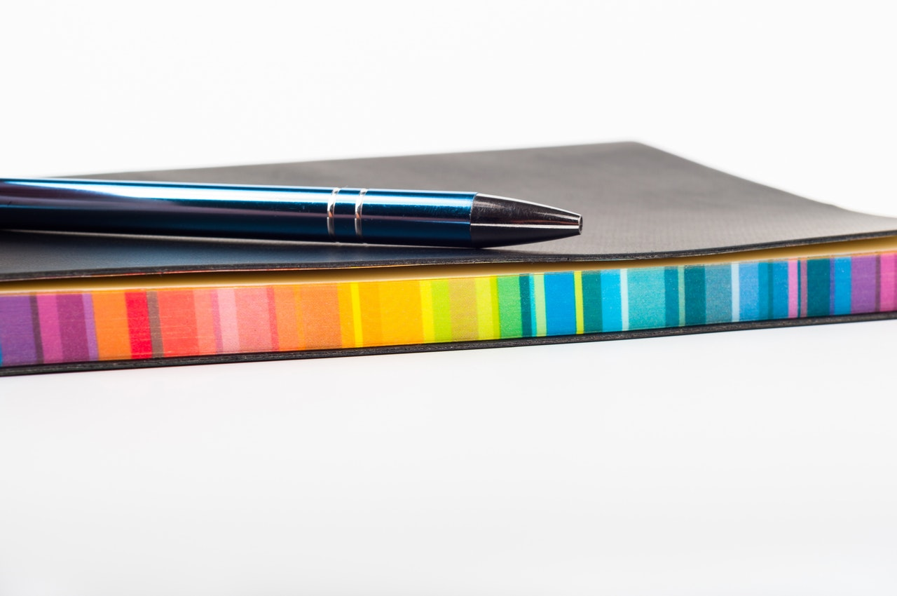 colorful calendar and pen