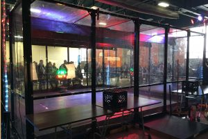 Battle Bots competition cage