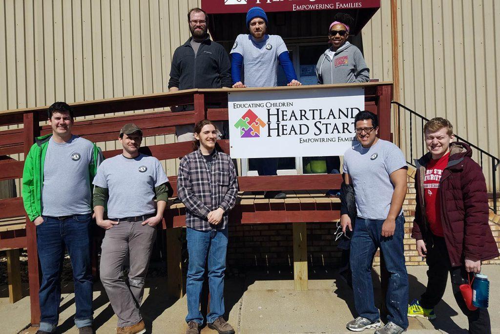 Stevenson Center students and AmeriCorps members volunteered at Heartland Head Start.