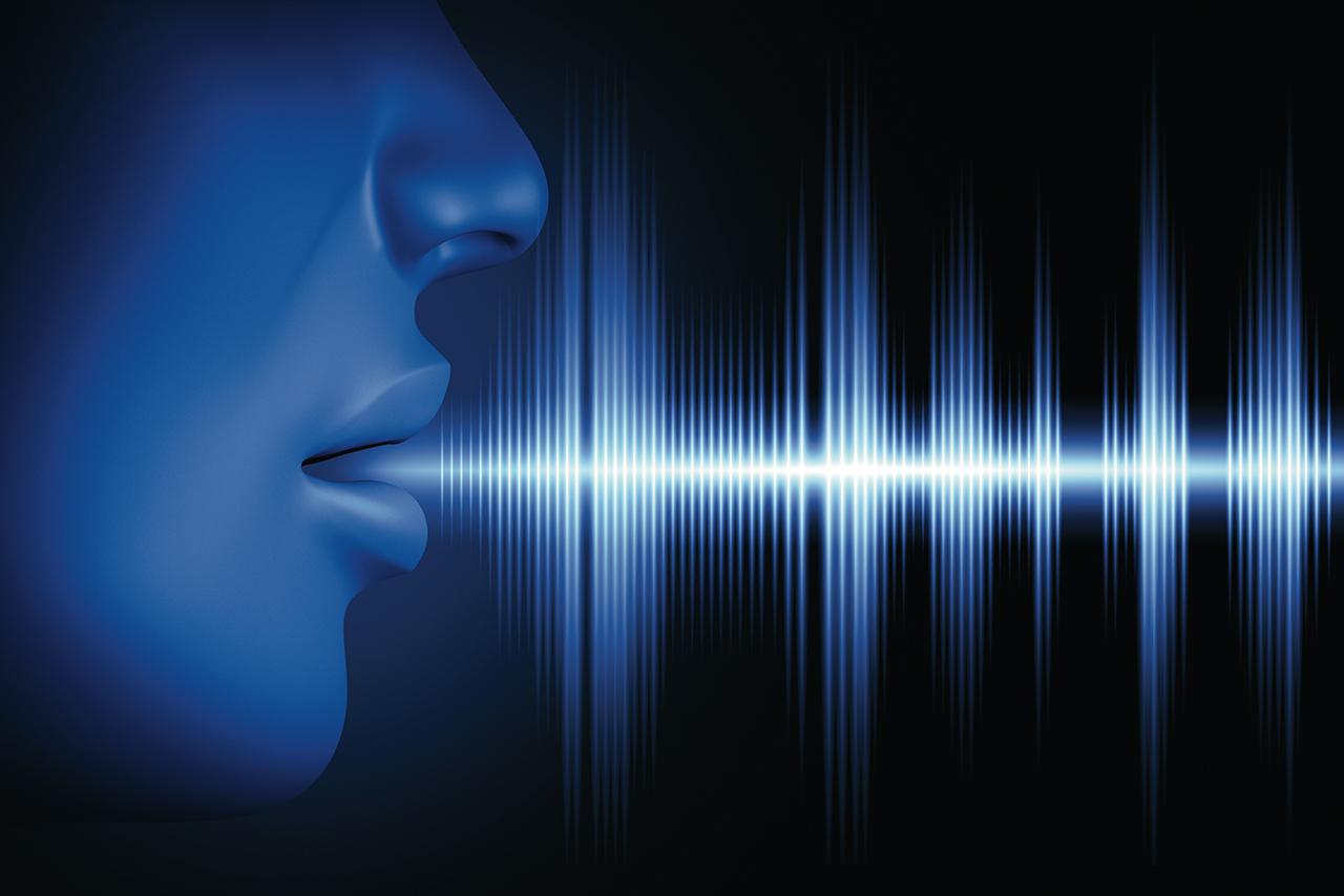 Conceptual image about human voice