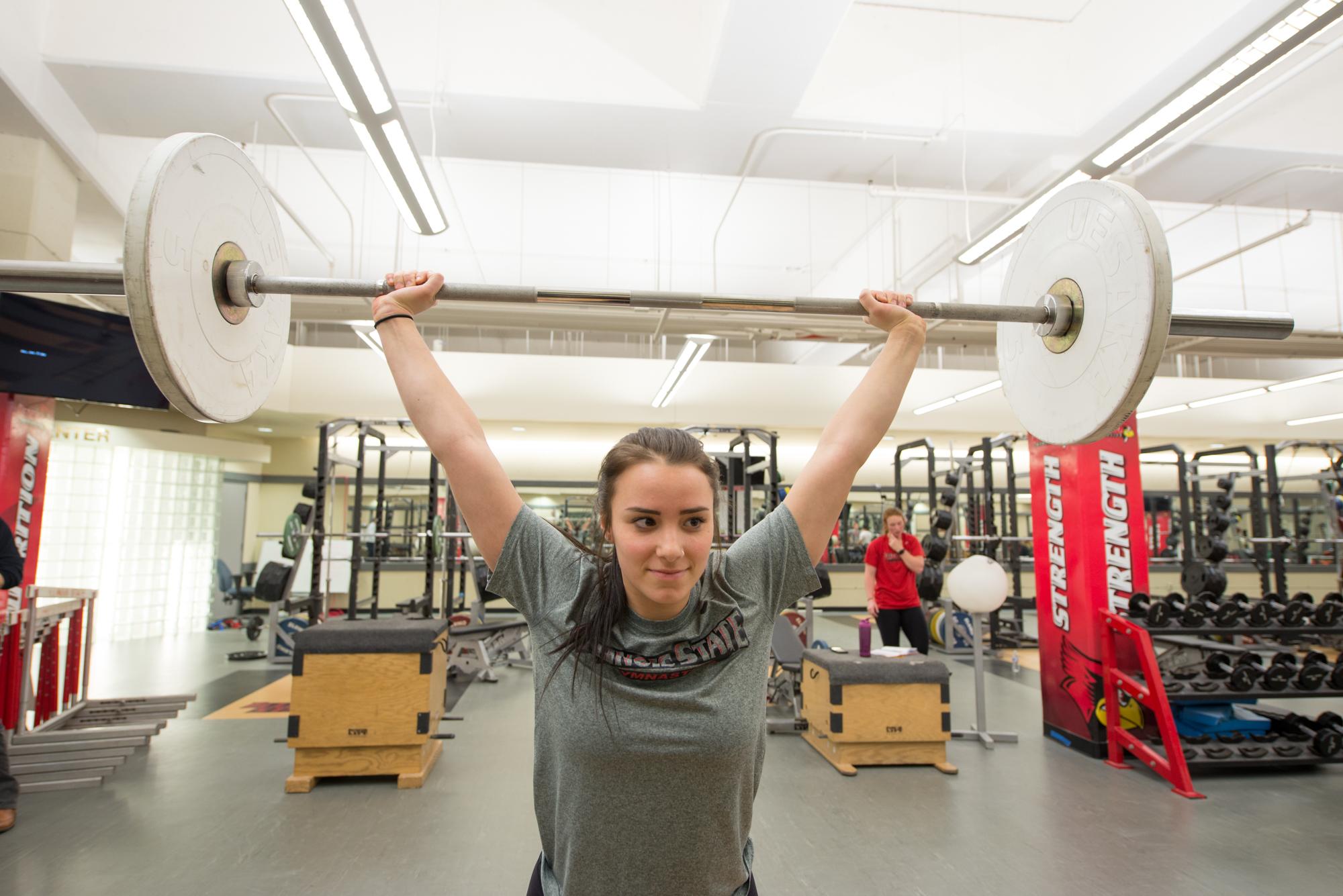 Katie DiGiacomo lifting weights