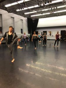 Edward Rice teaching during his guest artist residency.